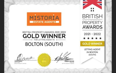 Mistoria Estate Agents Bolton: Gold Winners in the British Property Awards, again!
